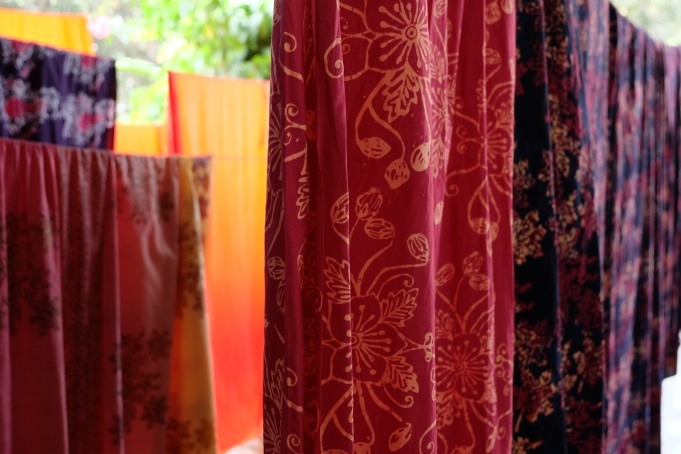 Batik Simpor tulis masih dalam proses